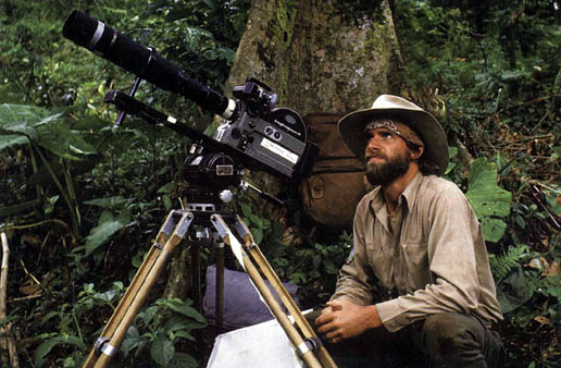 Neil filming in the rain forest