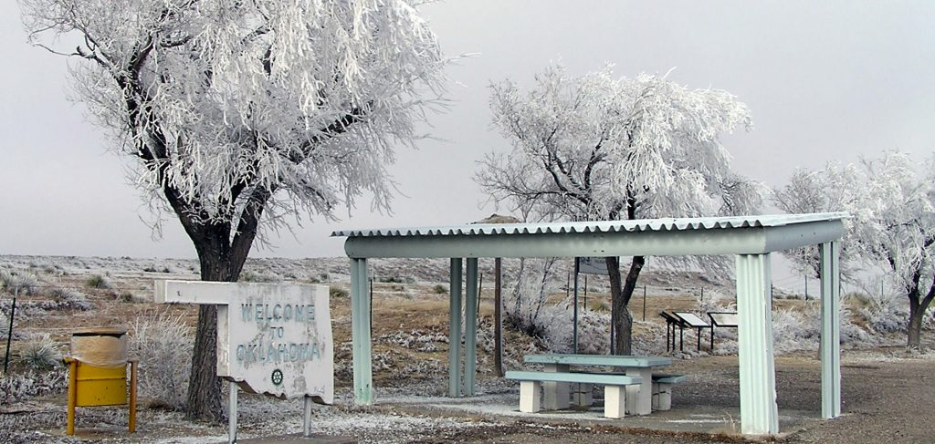Hoar frost on the Panhandle