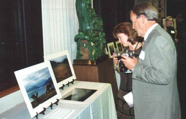 Guests view and bid on silent auction items donated to help fund Sutton Center projects.